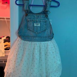 4T OshKosh tulle bottom overall dress